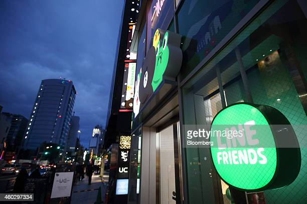 The Line Friends Store operated by Line Corp stands in Tokyo Japan on Thursday Dec 10 2014 Line which makes money by asking smartphone users of its...