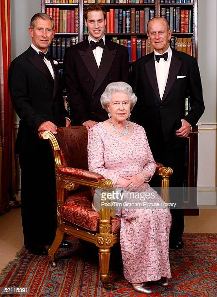The Line Of Succession Of The British Monarchy - Queen Elizabeth II With Her Consort, Prince Philip With Their Son Prince Charles, The Prince Of...
