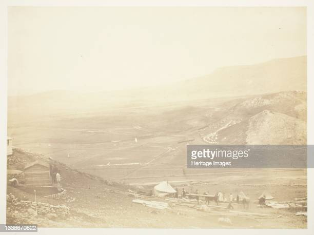 The Lines of Balaklava, 1855. A work made of salted paper print, from the album 'photographic pictures of the seat of war in the crimea' . Artist...