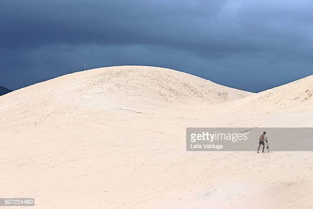 The lines of the Dunes of Joaquina - Brazil