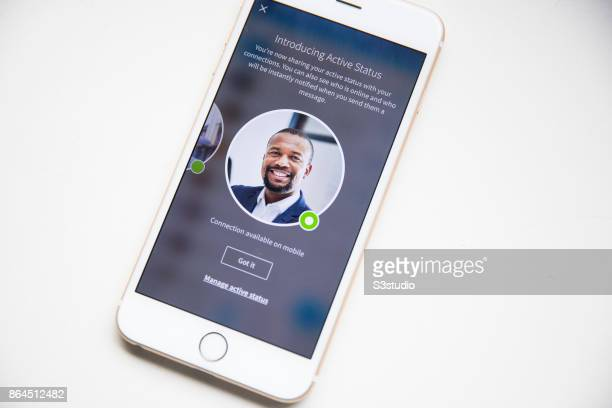 The LinkedIn Corp app is displayed on an Apple Inc iPhone6s plus the biggest online professionalnetworking service on October 20 2017 in Hong Kong...