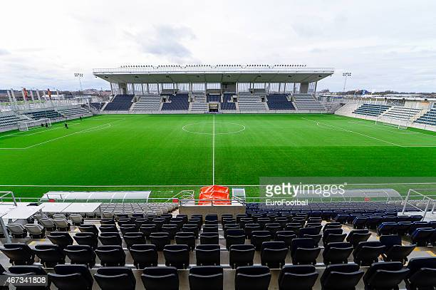 The Linkoping arena ahead of the UEFA Women's Champions League quarterfinal match between Linkopings FC and Brondby IF on March 22 2015 in Linkoping...