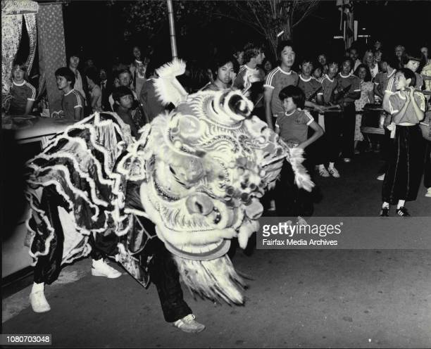 The lion and people in Chinatown tonightCelebrations took place in Chinatown tonight to mark the 1980 Chinese New Yeas Thousands of people turned out...