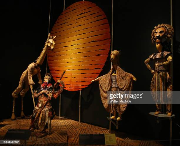 The Lion King' seen at the exhibition Curtain Up: Celebrating the Last 40 Years of Theatre in New York and London at the New York Public Library for...