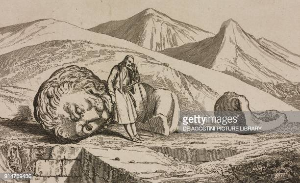 The Lion of Chaeronea Greece engraving from Grece by Francois Pouqueville L'Univers pittoresque Europe published by Firmin Didot Freres Paris 1835
