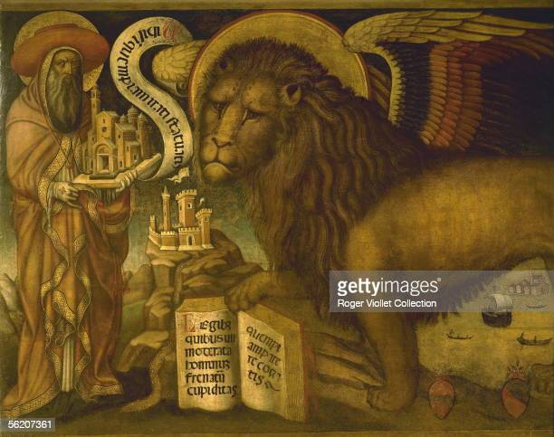 The Lion of saint Mark Venitian anonymous XVth century Venice palace of Doges