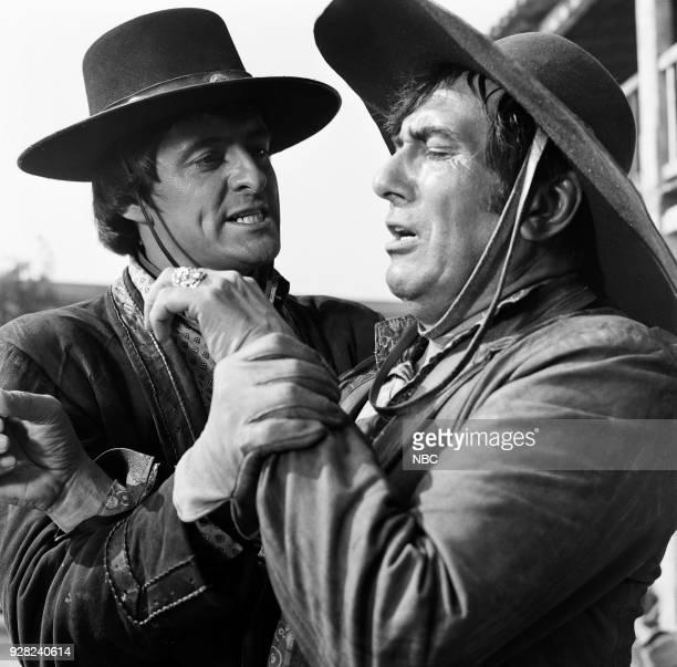 CHAPARRAL 'The Lion Sleeps' Episode 25 Pictured Henry Darrow as Manolito Montoya and Rico Alaniz as Armando