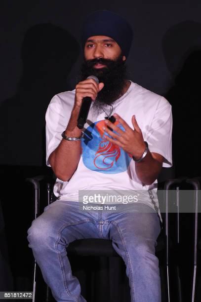 FRESH the Lion speaks at the Tribeca TV Festival premiere of YouTube Creators for Change at Cinepolis Chelsea on September 22 2017 in New York City