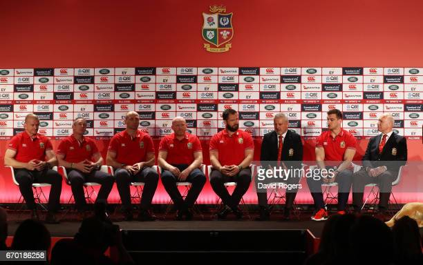 The Lions coaching and management team of Graham Rowntree Rob Howley Steve Borthwick Neil Jenkins Andy Farrell Warren Gatland Sam Warburton and John...