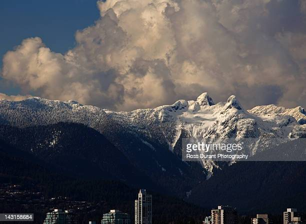 the lions, coastal mountains, vancouver, bc - the lions stock photos and pictures