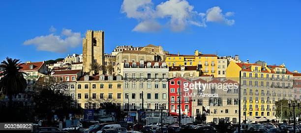 The Lisbon Cathedral and in is neighborhood.
