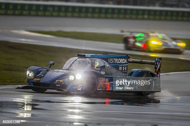 The Lisier Gidbson of Marc Goosesn Renger Van Der Zande and Rene Rast during the 24 Hours of Daytona IMSA Weathertech series race at Daytona...