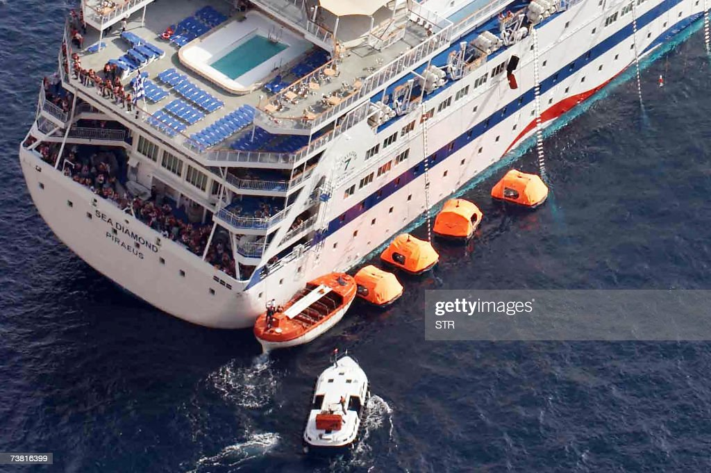 Safely Evacuated From Listing Cruise Ship Off Greece Photos - Coast guard cruise ship
