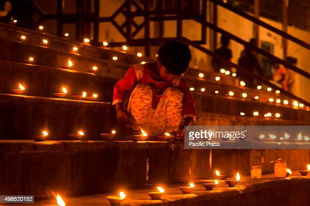 The lit candles during the Dev Uthani also known as Prabodhini Ekadashi It is celebrated with huge festive fervour on the eleventh day after Diwali...