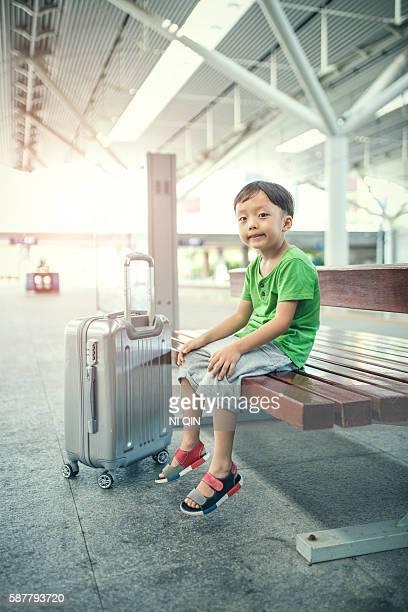 Die kleiner Junge war, die Sie am Flughafen