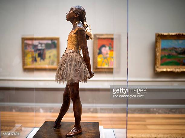 'The Little Dancer' a sculpture by French artist Edgar Degas is on display at the National Gallery of Art's East Building seen Wednesday July 16 2014...