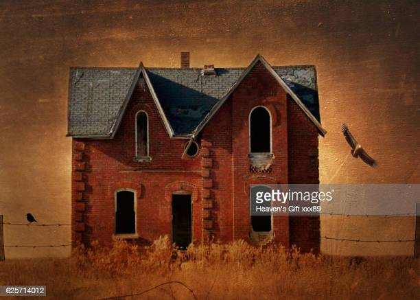 The Little empty red house