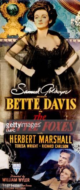 The Little Foxes poster Bette Davis bottom from left Richard Carlson Teresa Wright 1941