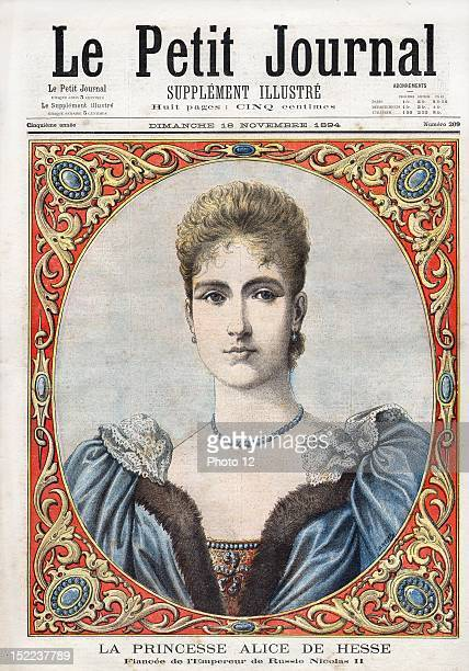 the little journal Monday 18th November 1894 N°209 Princess Alice of Hesse fiancee of Russian emperor Nicholas II