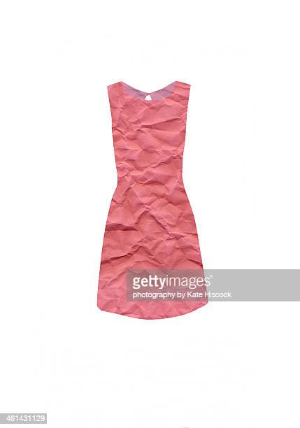 the little pink paper dress