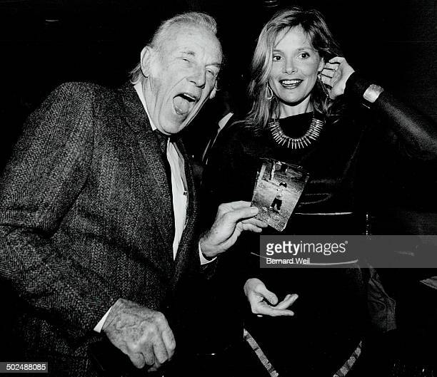 The little Shaver Actor Jan Rubes gets a kick out of actress Helen Shaver's photo of her 14monthold son Mackenzie at yesterday's Variety Club Gemini...