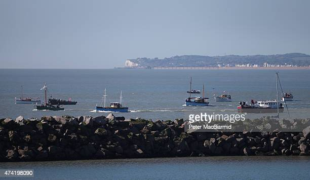 The 'Little Ships' depart from Ramsgate harbour for Dunkirk on May 21 2015 in England In 1940 a flotilla of privately owned small boats known as the...