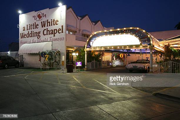The Little White Wedding Chapel on July 7 2007 in Las Vegas Nevada Wedding planners say a flood of couples were marrying on 7/7/07 due to the...