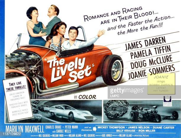 The Lively Set poster upper background from left to right Joanie Sommers Doug McClure center foreground from left to right Pamela Tiffin James Darren...