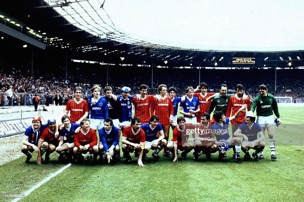 1984 League Cup final - Liverpool v Everton : News Photo