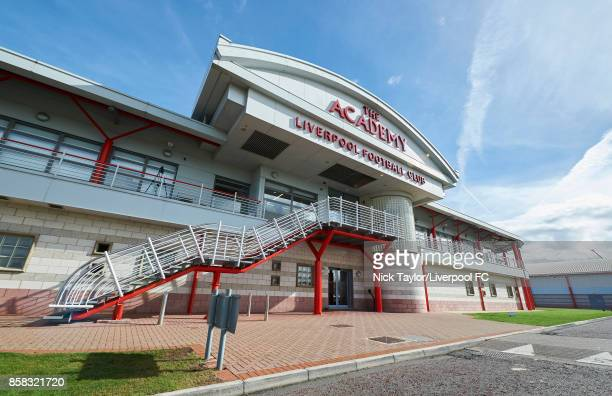 The Liverpool Football Club Academy building in the autumn sunshine during the U18 friendly match between Liverpool and Burnley at The Kirkby Academy...