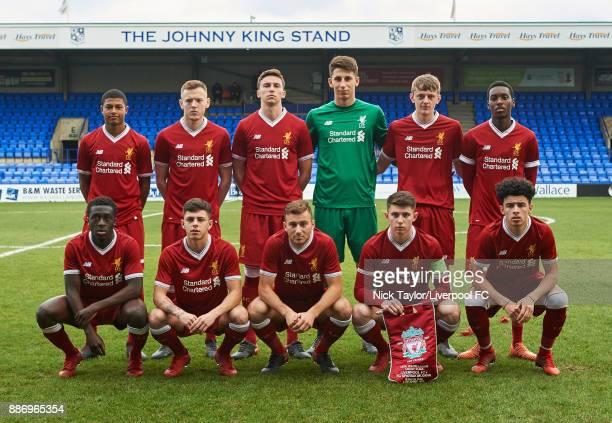 The Liverpool players back Rhian Brewster George Johnston Conor Masterson Kamil Grabara Tom Clayton and Rafael Camacho Front Bobby Adekanye Adam...
