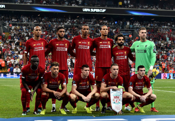 SUPER COUPE EUROPE UEFA 2019 The-liverpool-team-before-the-uefa-super-cup-match-between-liverpool-picture-id1168040734?k=6&m=1168040734&s=612x612&w=0&h=HLKCt3Gx1GIwNThjPQOlQjgDVkwP4mUyK0GRWVsc_sQ=
