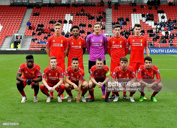 The Liverpool team Daniel Cleary Jerome Sinclair Ryan Fulton Corey Whelan and Sam Hart Seyi Ojo Ryan Kent Sergi Canos Jordan Rossiter Joe Maguire and...