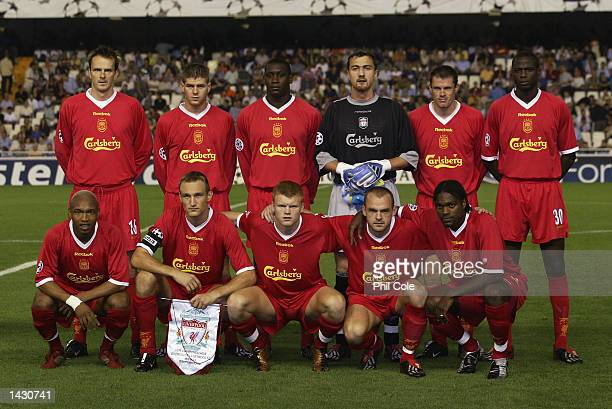 The Liverpool Team photo before the UEFA Champions League match between Valencia CF and Liverpool at the Estadio de Mestalla in Valencia, Spain on...
