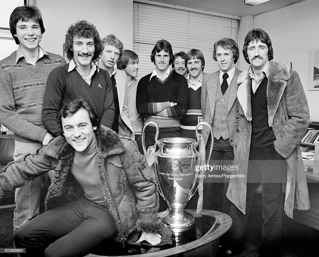 Liverpool FC With The European Cup At Pebble Mill In Birmingham : News Photo