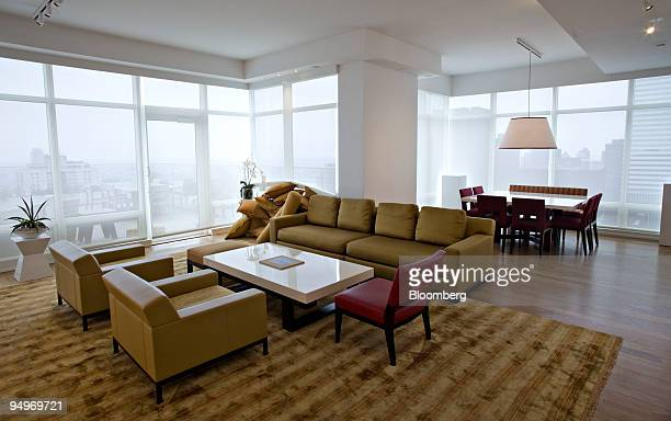 The living and dining room in the apartment of Marc Dreier, founder of the law firm Dreier LLP sentenced to 20 years in prison for defrauding hedge...