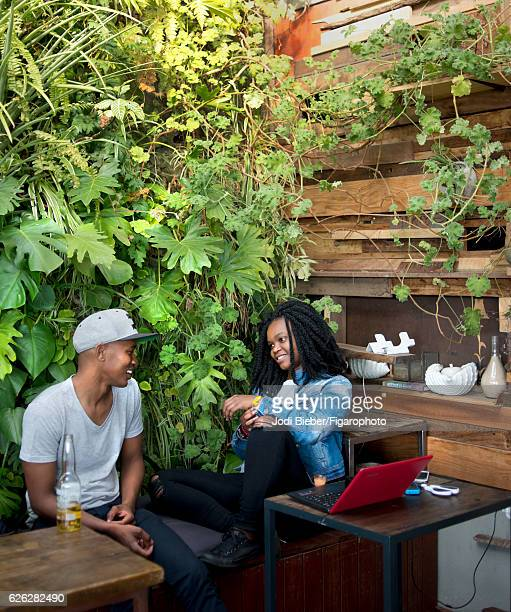 The Living Room cafe is photographed for Madame Figaro on June 25 2016 in Johannesburg South Africa The Living Room a café where customers sip from a...