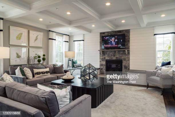 The Living Room in the Monterey II Model home at Signature Creek on March 23, 2021 in Accokeek Maryland.