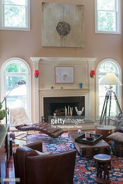 The living room of Greta De Keyser and Bart Vandaele's home in Alexandria Virginia on September 06 2014