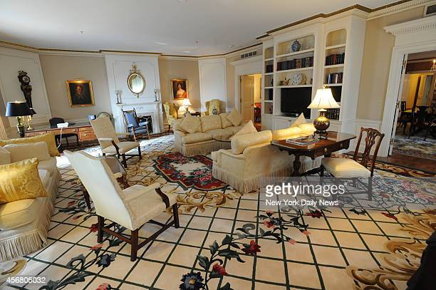 The living room of the Presidential Suite at the Waldorf Towers, where every President who has visited New York City since 1931 has stayed.