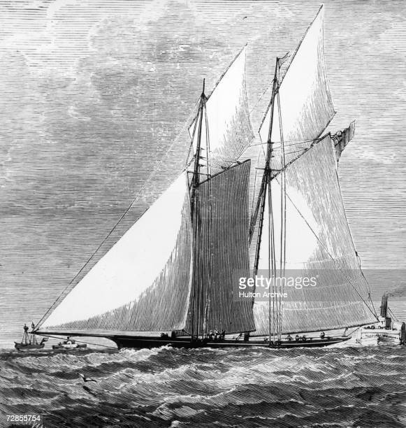The Livonia unsuccessful challenger in the second America's Cup sailing race 1871