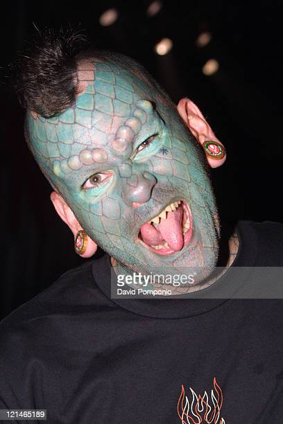 The Lizardman during Fear Factory and Chimaira in Concert April 12 2004 at Roseland Ballroom in New York City New York United States