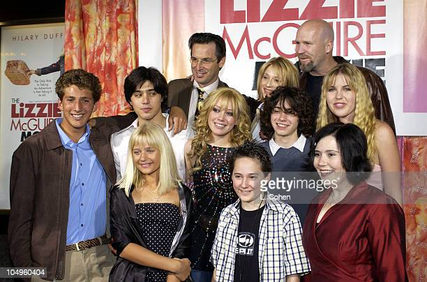 The Lizzie McGuire Movie Cast during The Lizzie McGuire Movie Premiere at The El Capitan Theater in Hollywood California United States