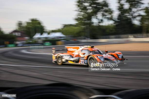 The LMP2 GDrive Racing ORECA 07Gibson with drivers Memo Rojas /Ryo Hirakawa /Jose Gutierrez in action during the qualification for the Le Mans 24...