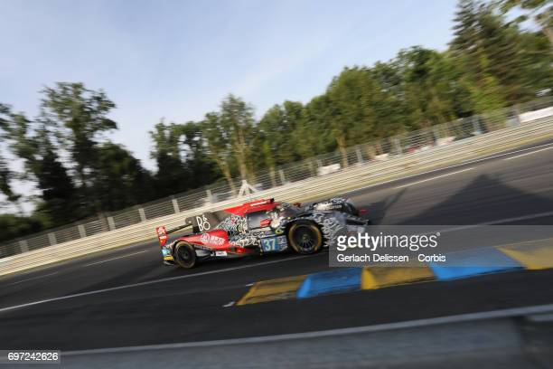 The LMP2 Jackie Chan DC Racing ORECA 07Gibson with drivers David Cheng /Tristan Gommendy /Alex Brundle in action during the qualification for the Le...