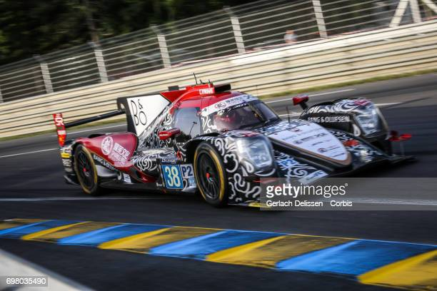 The LMP2 Jackie Chan DC Racing ORECA 07Gibson with drivers HoPin Tung /Thomas Laurent /Oliver Jarvis in action during the qualification for the Le...