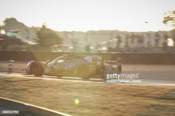 The LMP2 Jackie Chan DC Racing ORECA 07Gibson with drivers HoPin Tung /Thomas Laurent /Oliver Jarvis in action during the Le Mans 24 Hours race on...