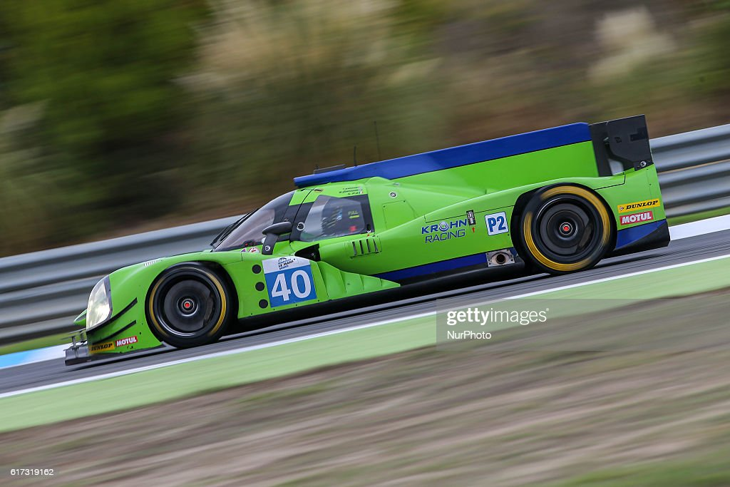 The #40 LMP2 Ligier JS P2 - Nissan driven by Tracy Krohn (USA) and Niclas Jonsson (SWE) and Olivier Pla (FRA) during the session tests of European Le Mans Series Estoril at Autodromo do Estoril in Portugal on October 21, 2016.