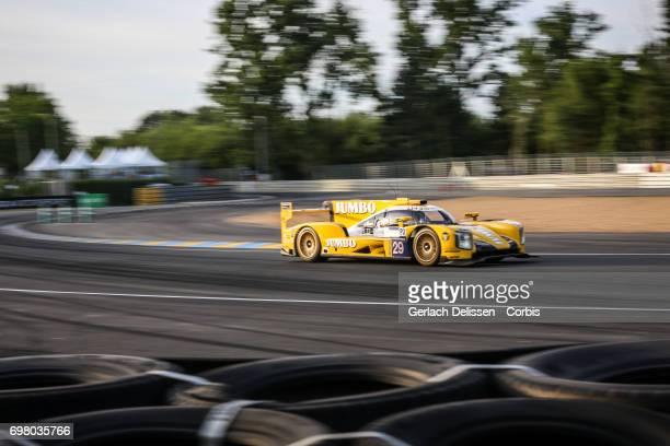 The LMP2 Racing Team Nederland Dallara P217Gibson with drivers Jan Lammers /Frits Van Eerd /Rubens Barrichello in action during the qualification for...
