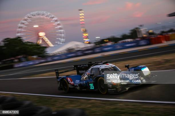 The LMP2 Signatech Alpine Matmut Alpine A470Gibson with drivers Nelson Panciatici /Pierre Ragues /Andre Negrao in action during the qualification for...